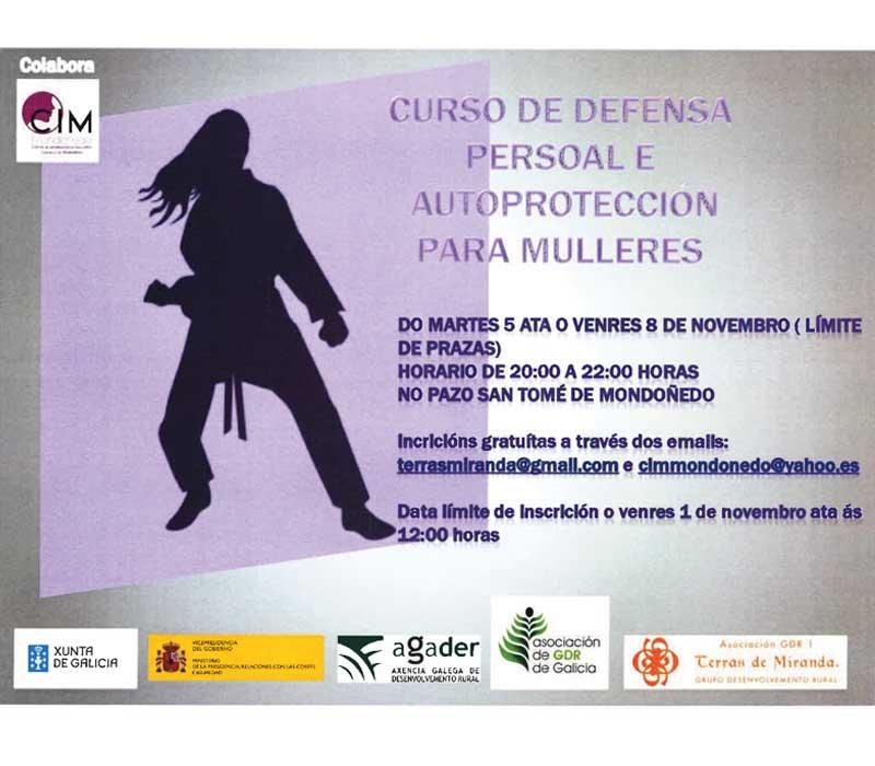 Curso de defensa persoal para mulleres